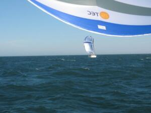 m_Catching up with a Moody flying an identical Parasailor - just a bit smaller !