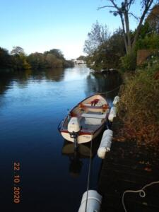 Stern to at the Shepperton mooring