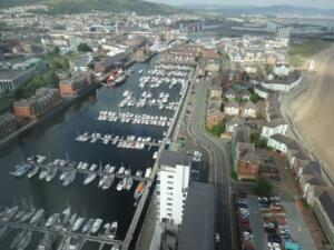 m_Swansea from the high rise restaurant