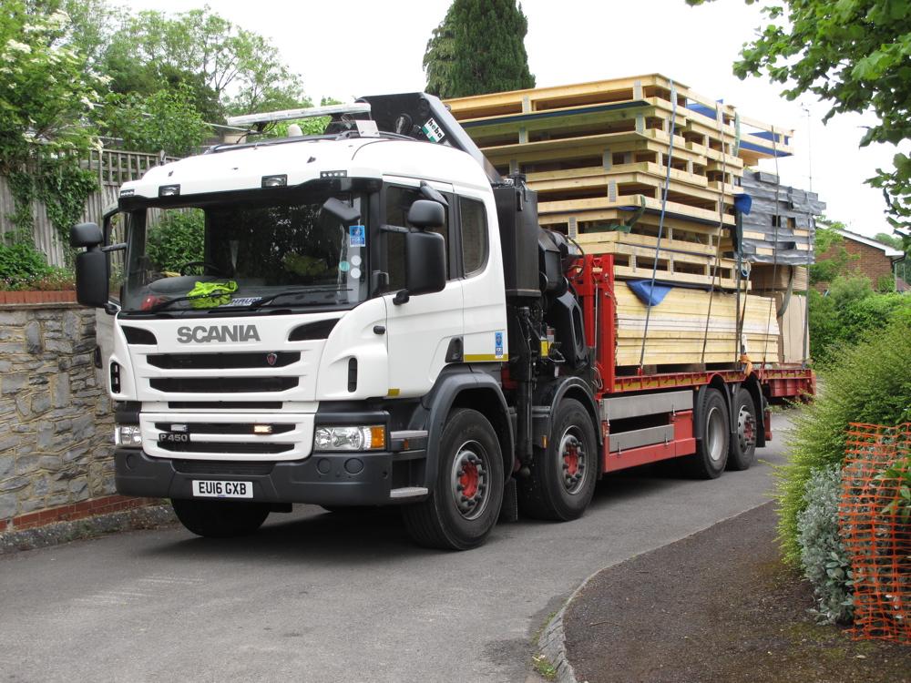 Timber frame arrives