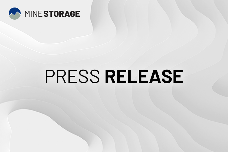 Mine Storage press release