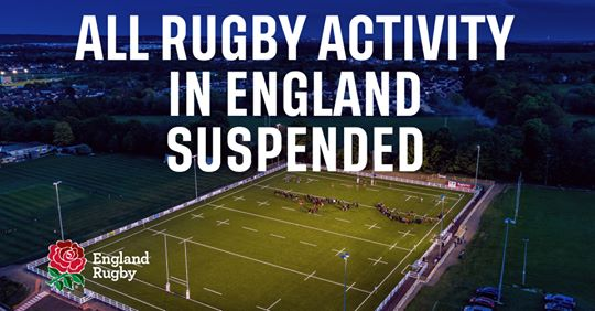 RFU Rugby Suspended