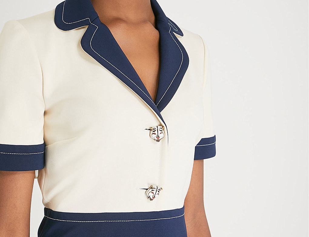 Sailor Chic with Gucci's Crepe Dress