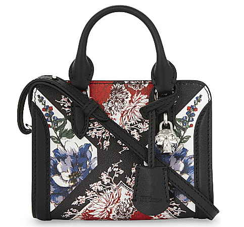 alexander mcquee0n floral crossbody bag selfridges £1,095.00