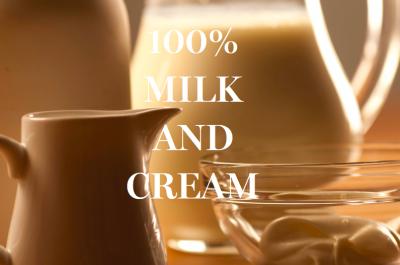 100 milk and cream