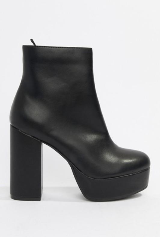 extreme platform boots black