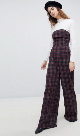 unique 21 tartan jumpsuit
