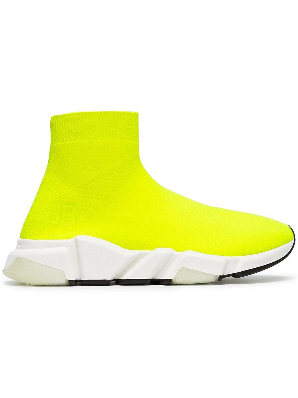Neon Yellow Speed Sneakers- £525 Balenciaga