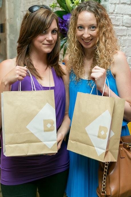 Artist Alison McGuigan with Fashionista & DJ, Naomi Faith