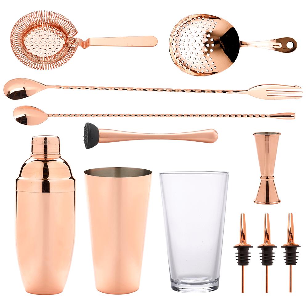 Crosbys Copper Cocktail Set