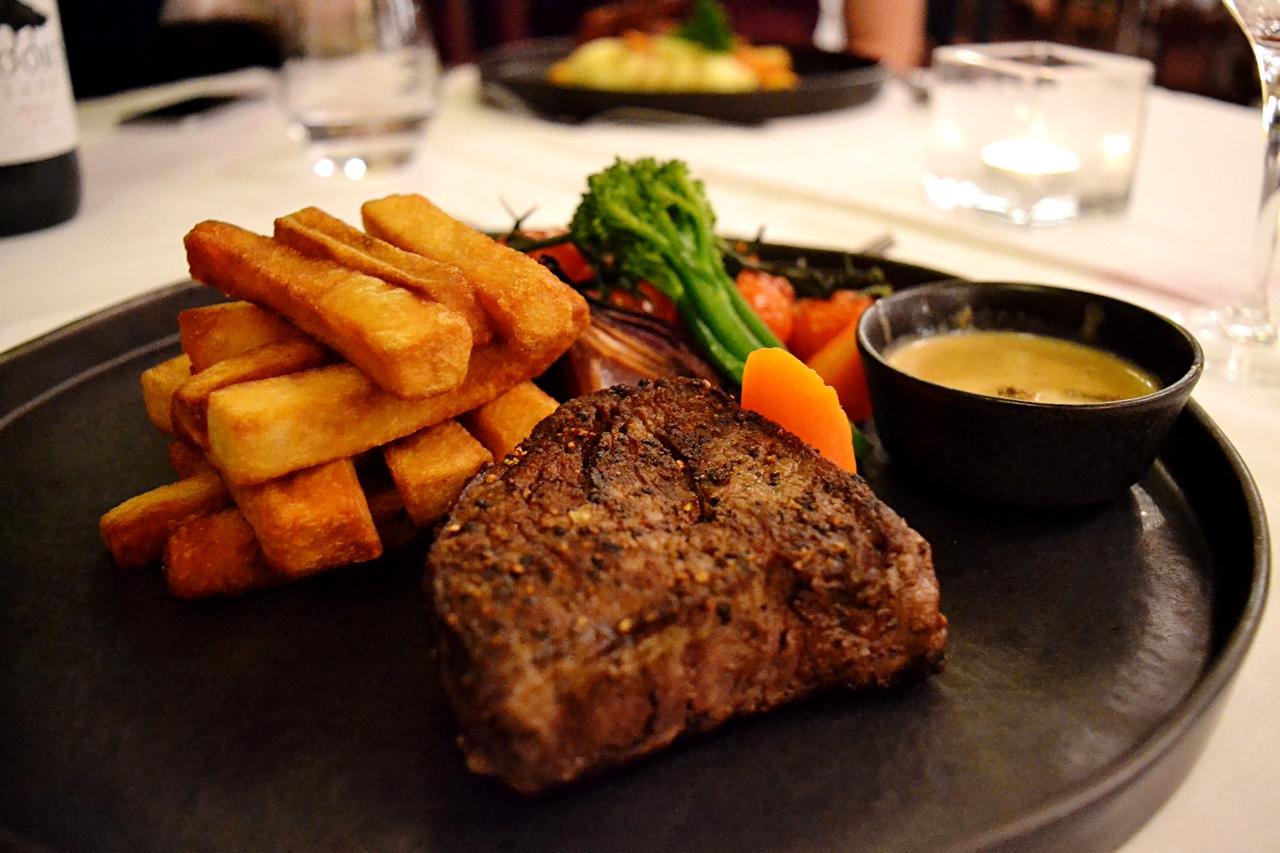 steak beech hill hotel food