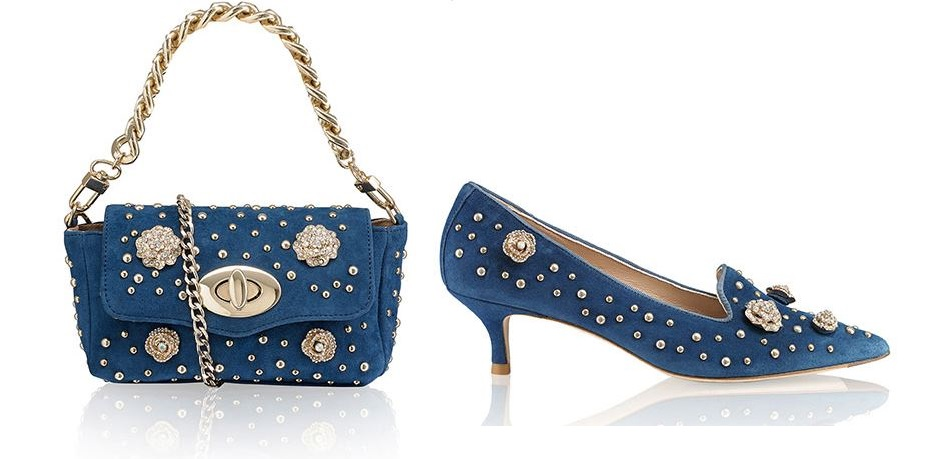 Russell & Bromley Embellished Rose Accessories