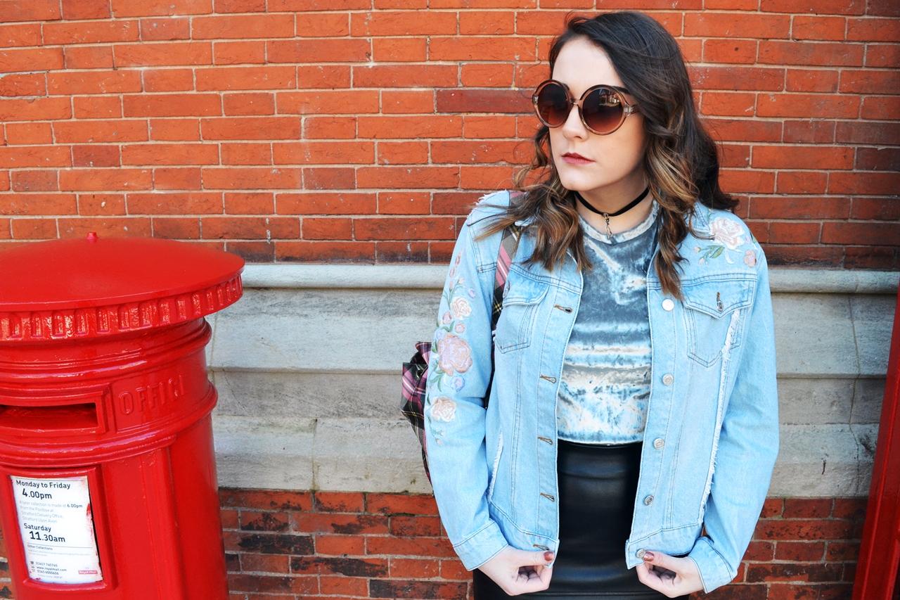fashion blogger manchester street style denim velvet