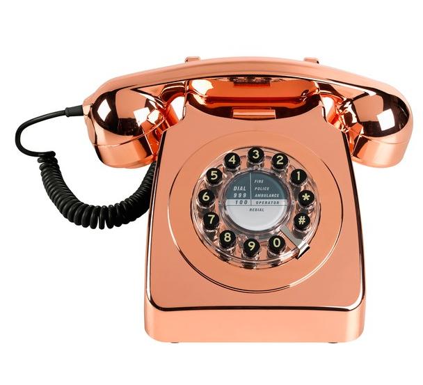 IWOOT Retro 746 Copper Telephone