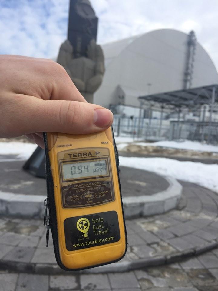 radiation levels at chernobyl geiger meter