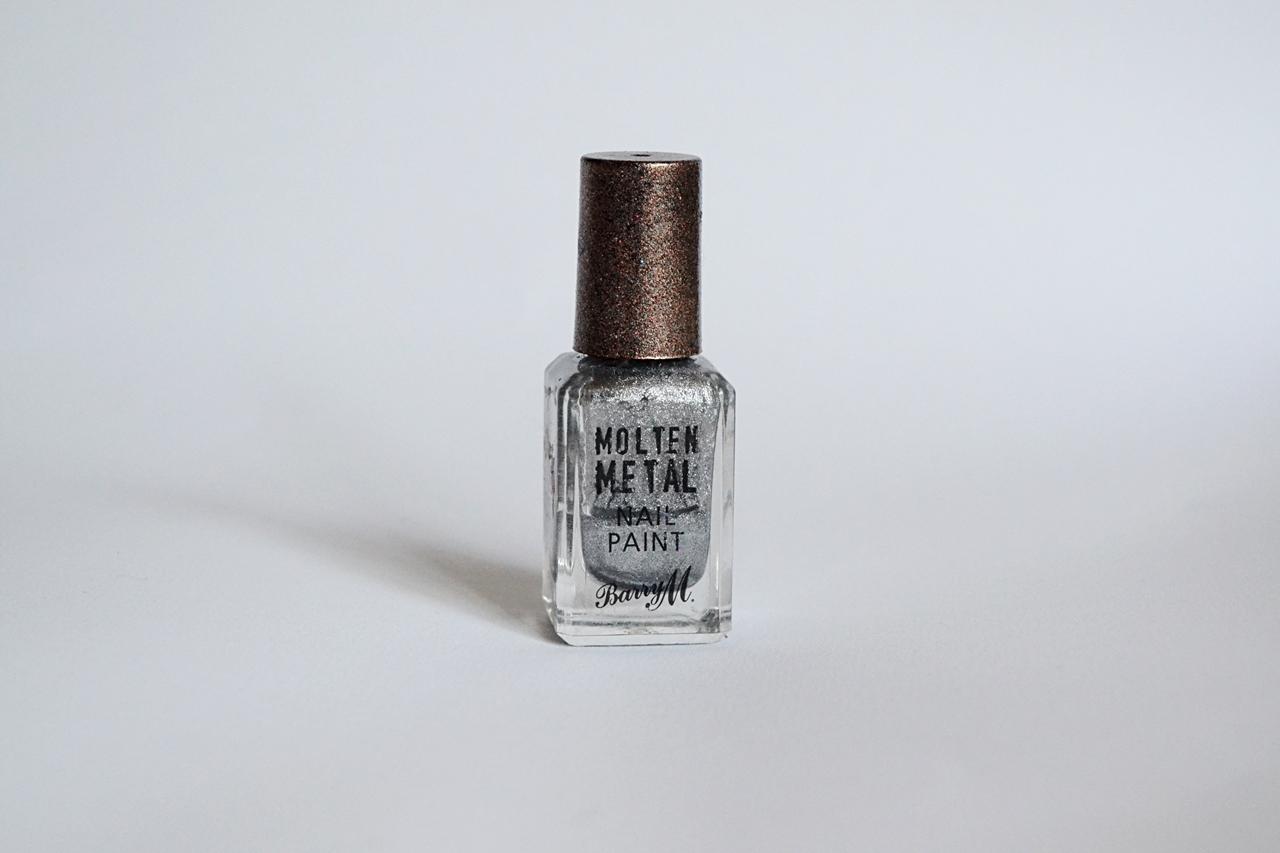 barry m molten metal nail polish silver lining