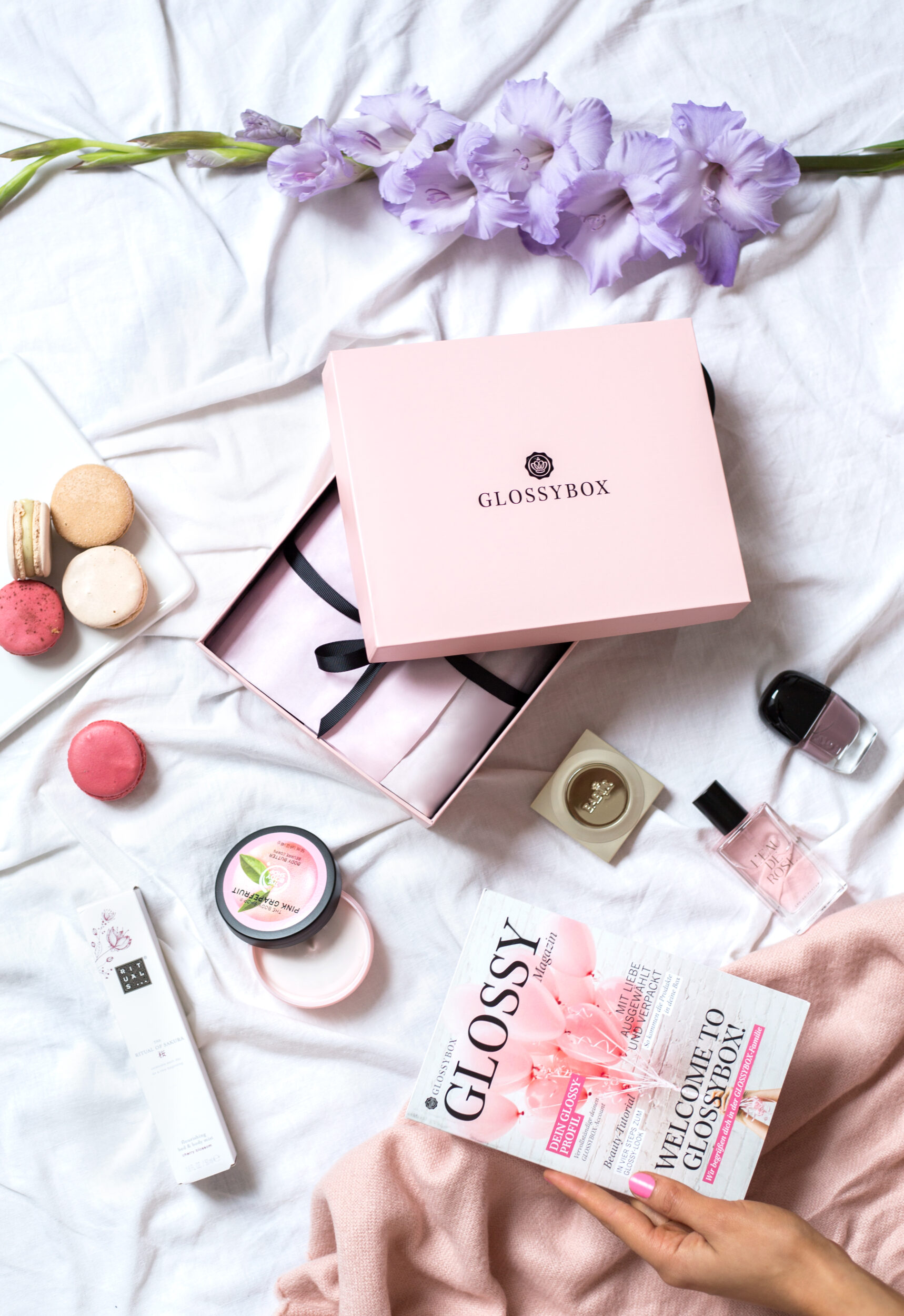 the hut group glossybox beauty box