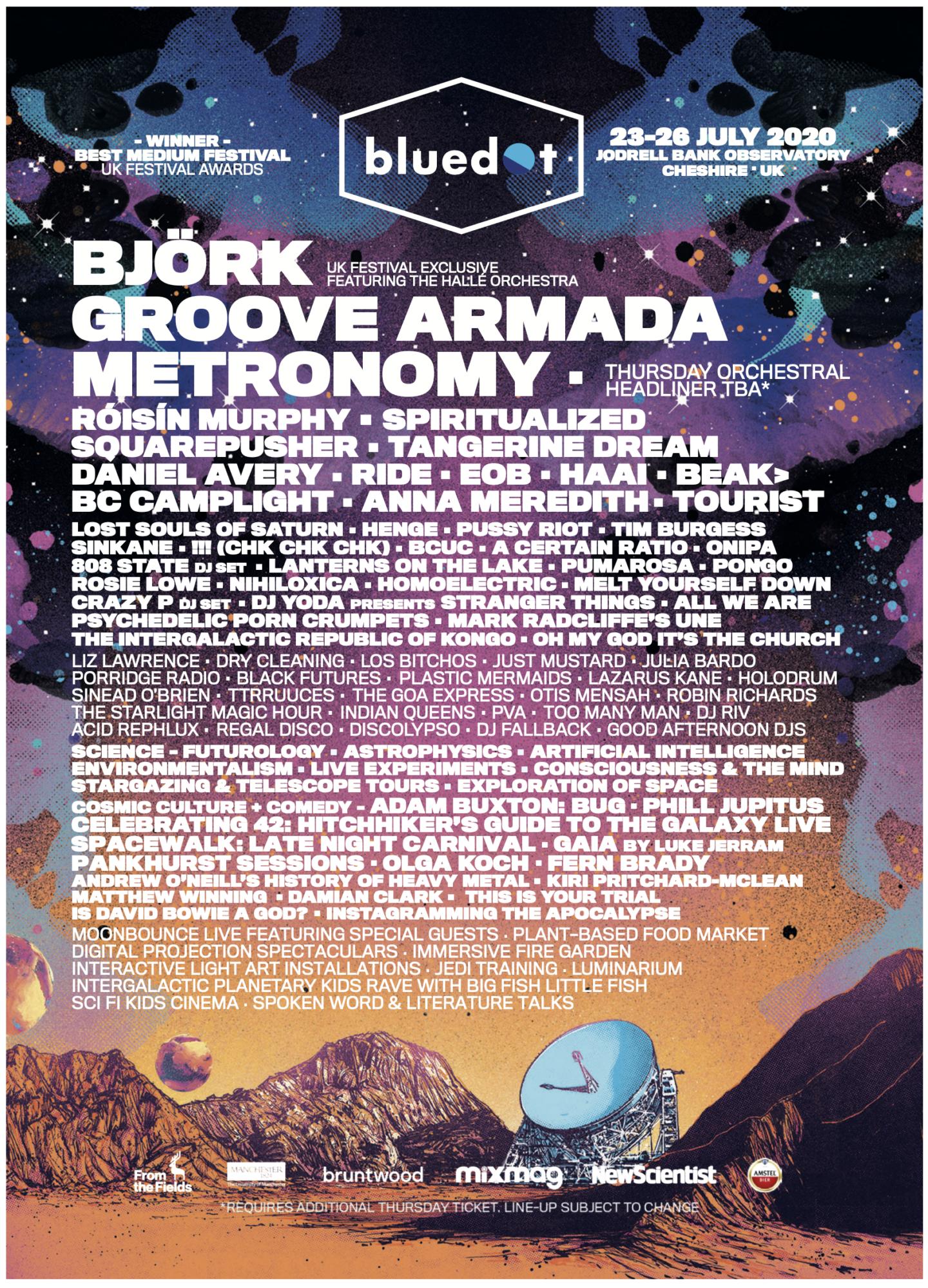 bluedot 2020 lineup poster