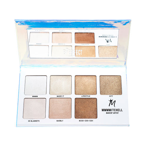 bperfect cosmetics mmmmitchell collaboration highlighter palette review