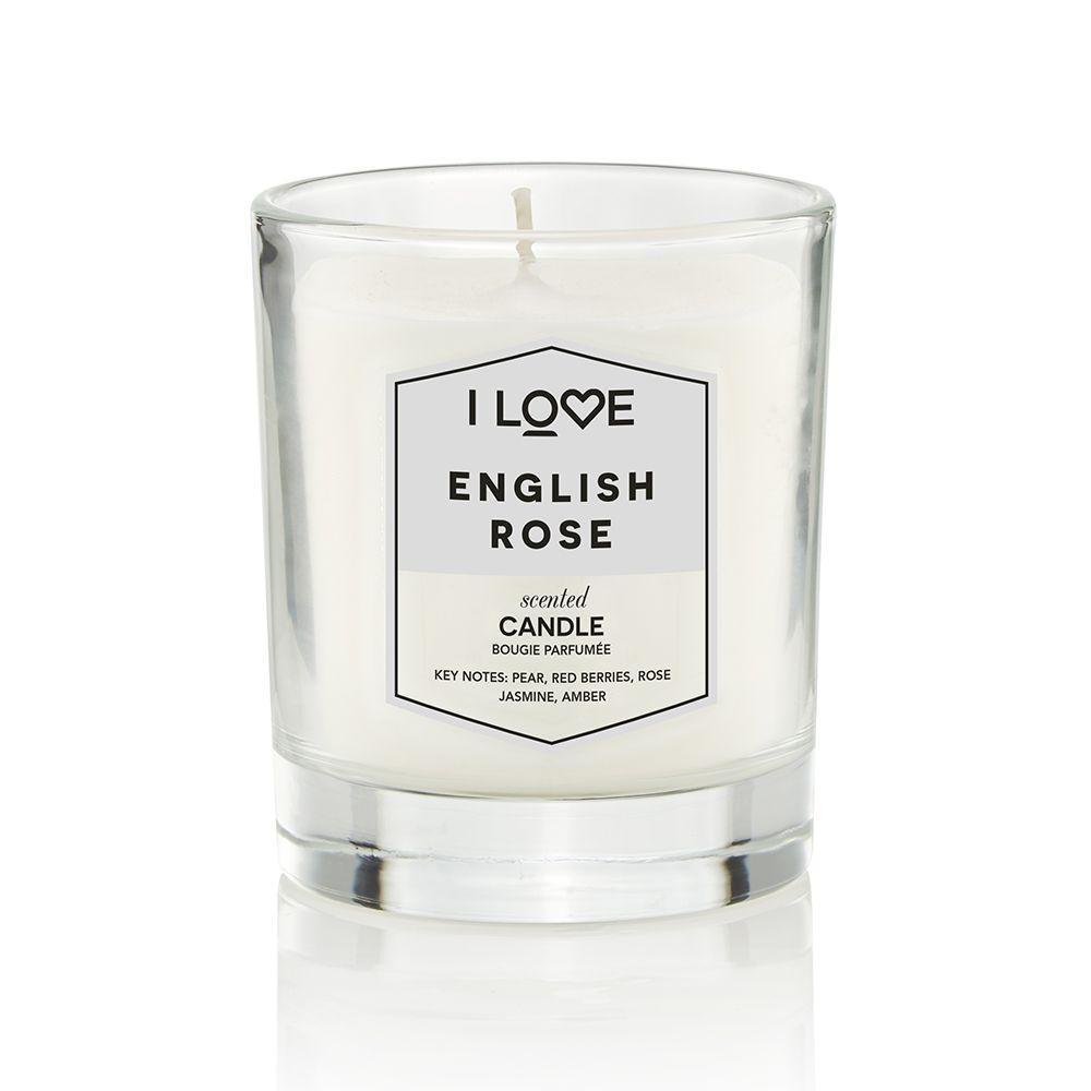 i love rose candle