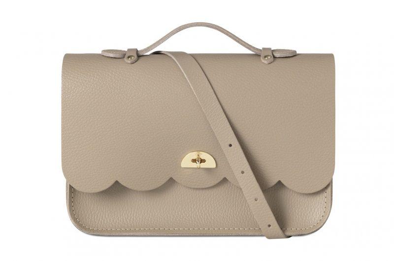cambridge satchel cloud bag grey
