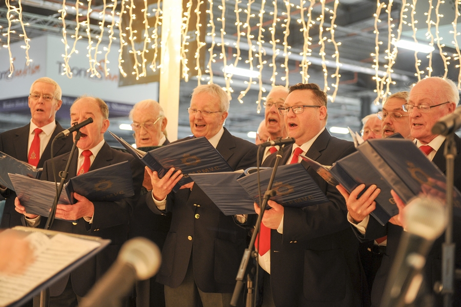 choir ideal home show manchester christmas