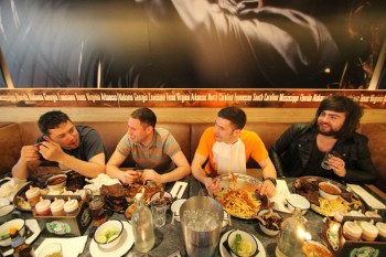 Capital FM Breakfast Team L-R Rob Ellis, Nigel 'Wingman' Clucas, James 'Gorgeous' Wilson and Adam Brown