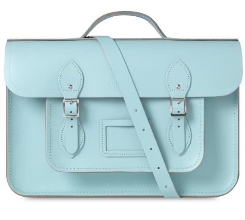 cambridge satchel pastel blue turquosie batchel