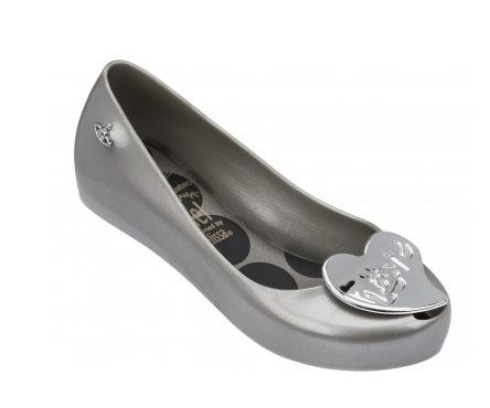 vivienne westwood melissa shoes orb grey heart