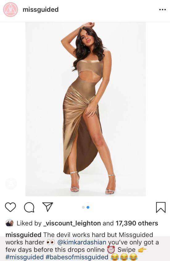 kim k missguided rip off dress