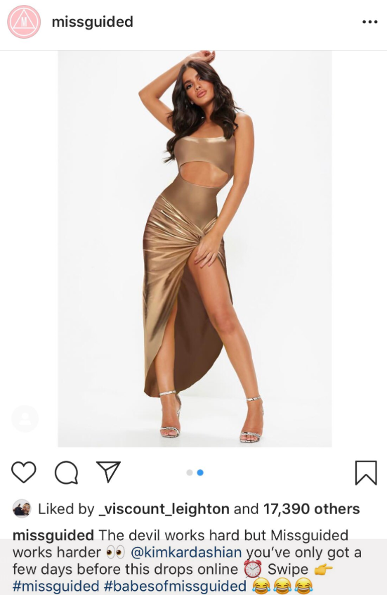 kim k missguided rip off dress
