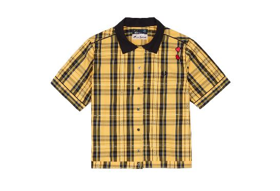 fred perry classic tartan top