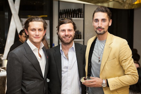Charlie Morris (L) & Hugo Taylor (R) with friend and business partner Nicholas Dellaportas (Centre)
