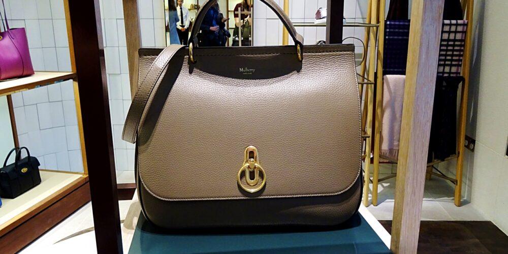 classic grey amberley mulberry handbag
