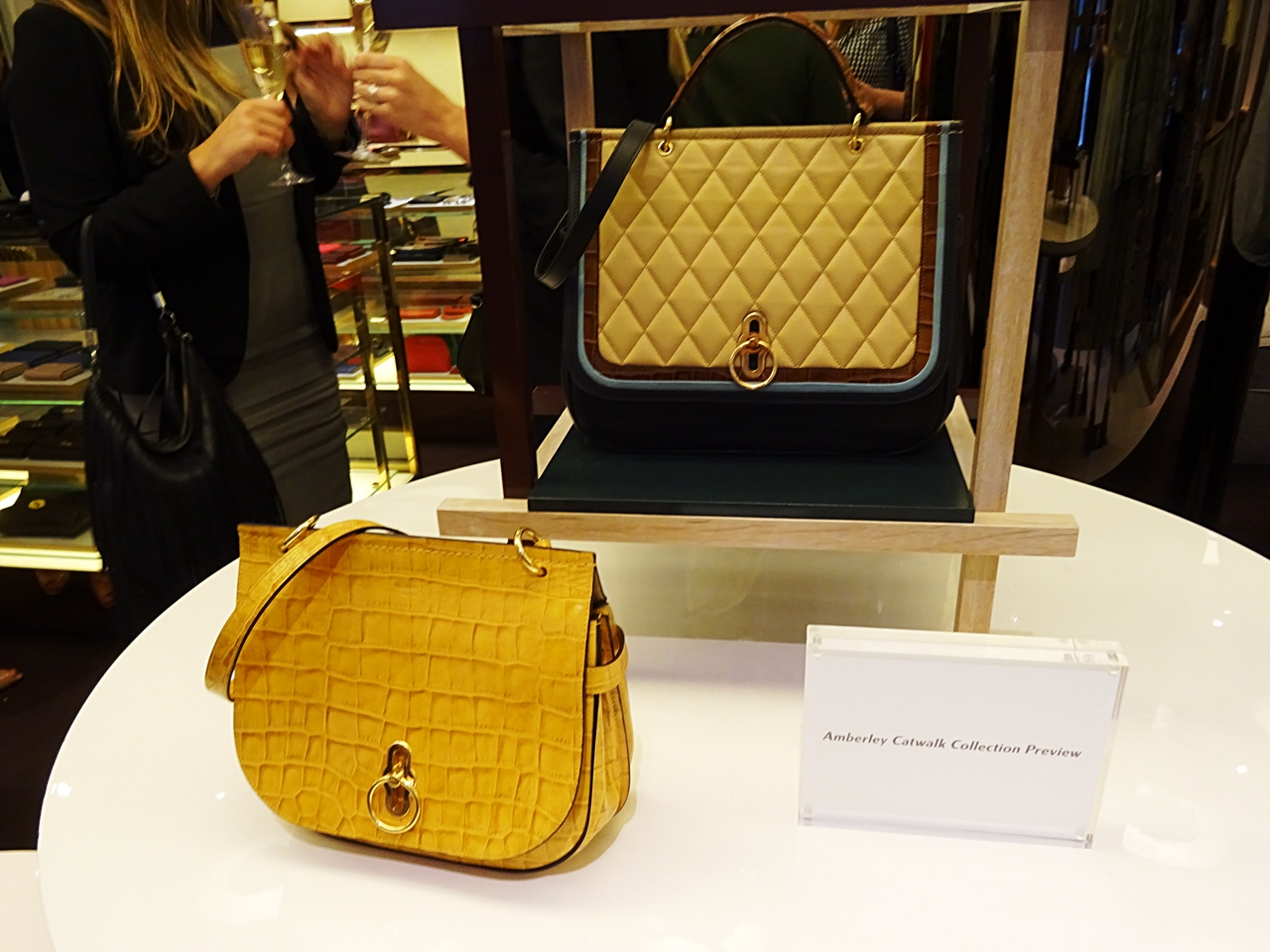 quilted croc leather amberyley bag aw17 mulberry