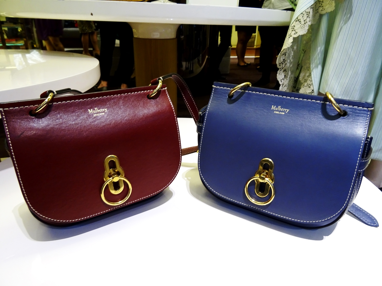 small amberley mulberry bag aw17 blue oxblood