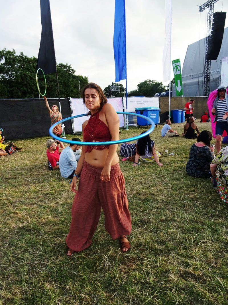 bluedot hula hoop style spotted