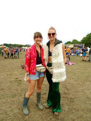 bluedot gilet rain coat festival style