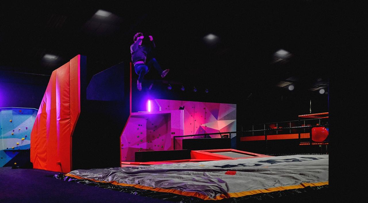 kickair trampolines stunt mat manchester