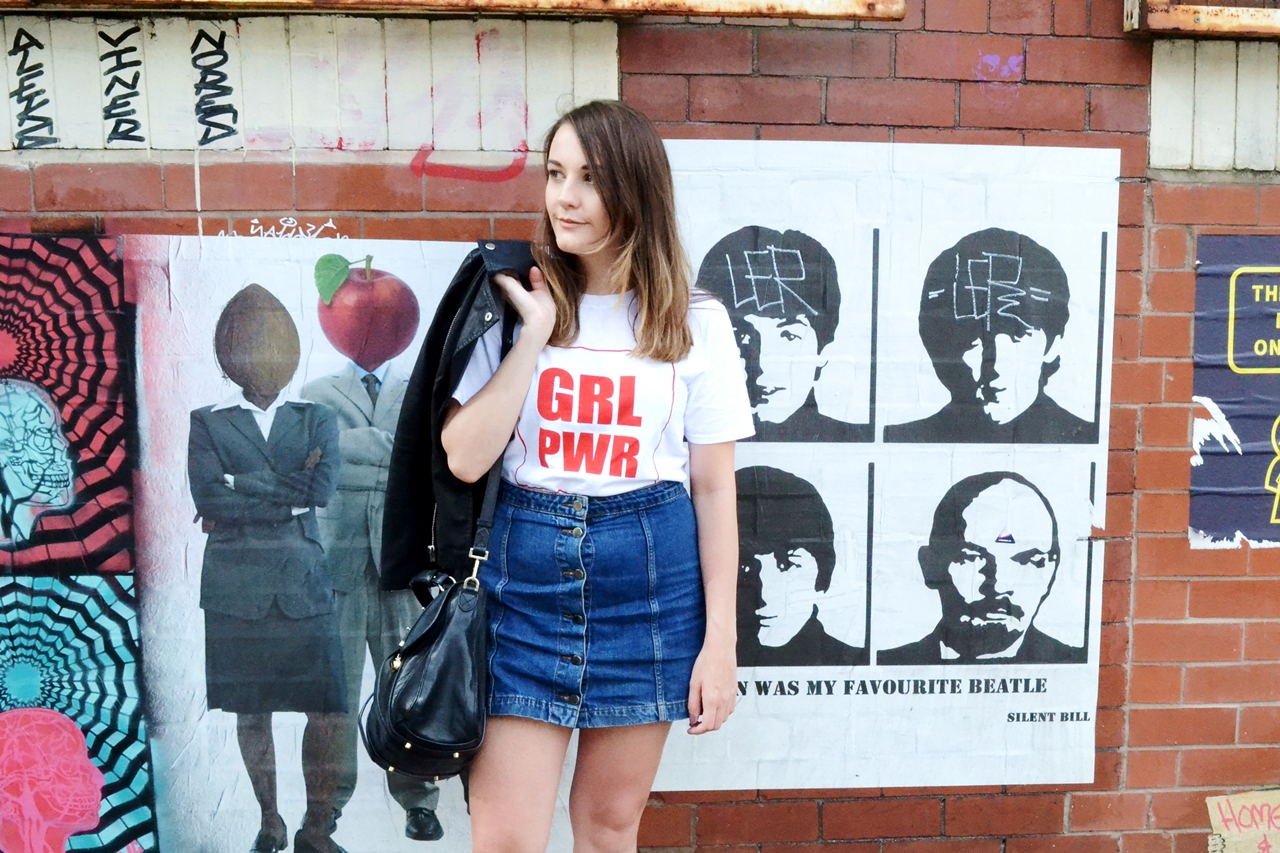 grl pwr t shirt look of the day feminist fashion