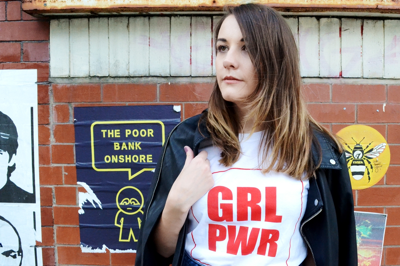 grl pwr retro street style manchester northern quarter