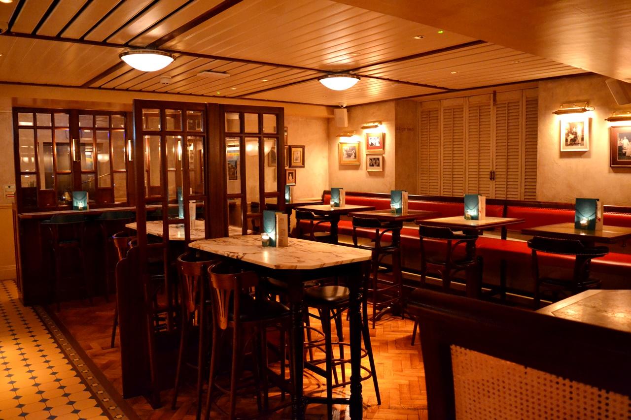 dishoom decor bar area manchester