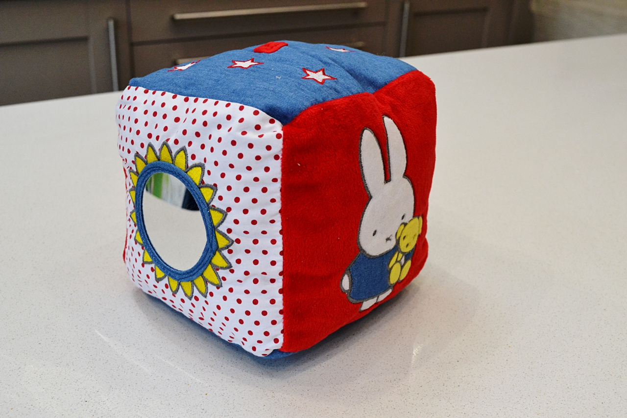 miffy soft denim cube mirror toy baby