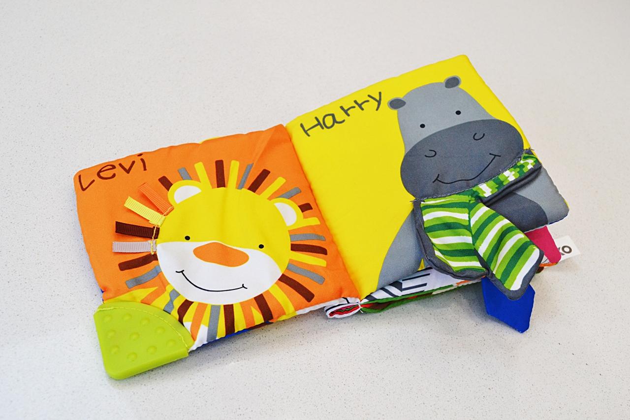 wilko safari baby book toy