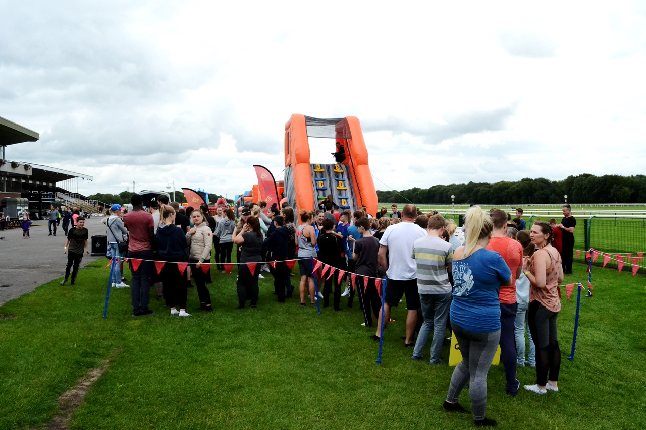 haydock racecourse inflatable fun labyrinth challenge