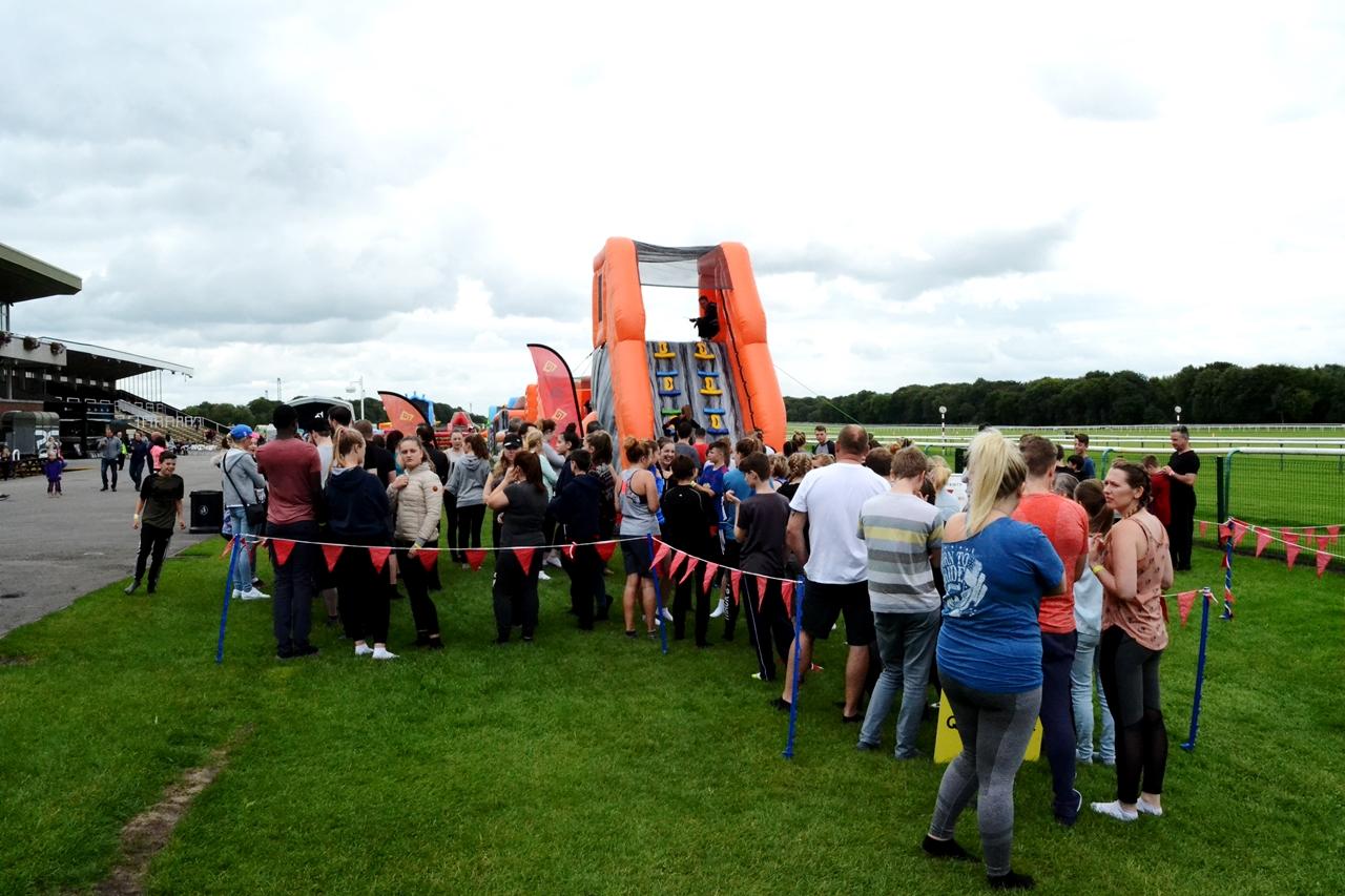 haydock racecourse inflatable fun labyrinth challenge