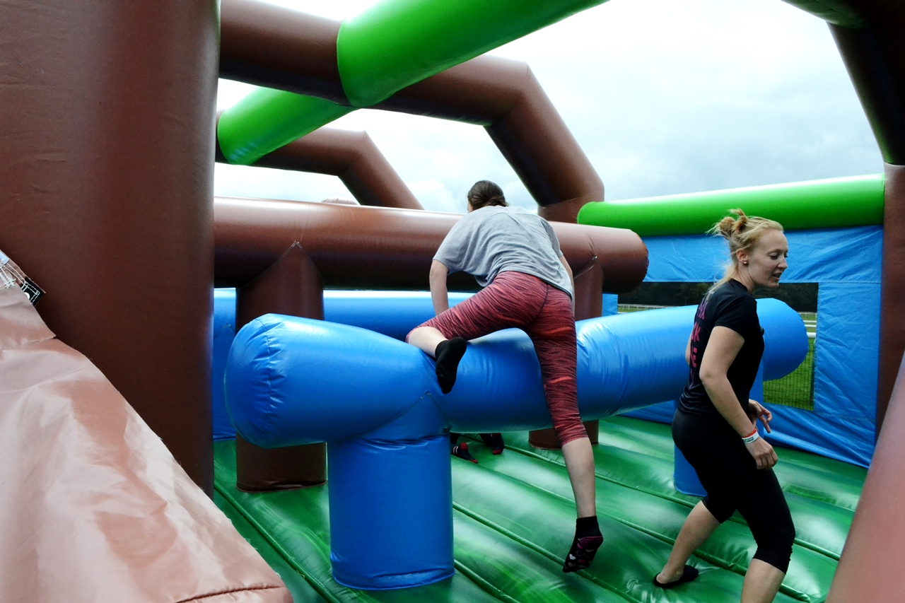 the labyrinth challenge haydock racecourse inflatable