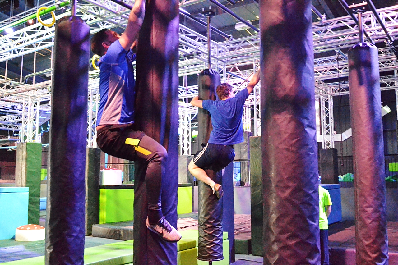 total ninja course obstacles spider wall skill manchester