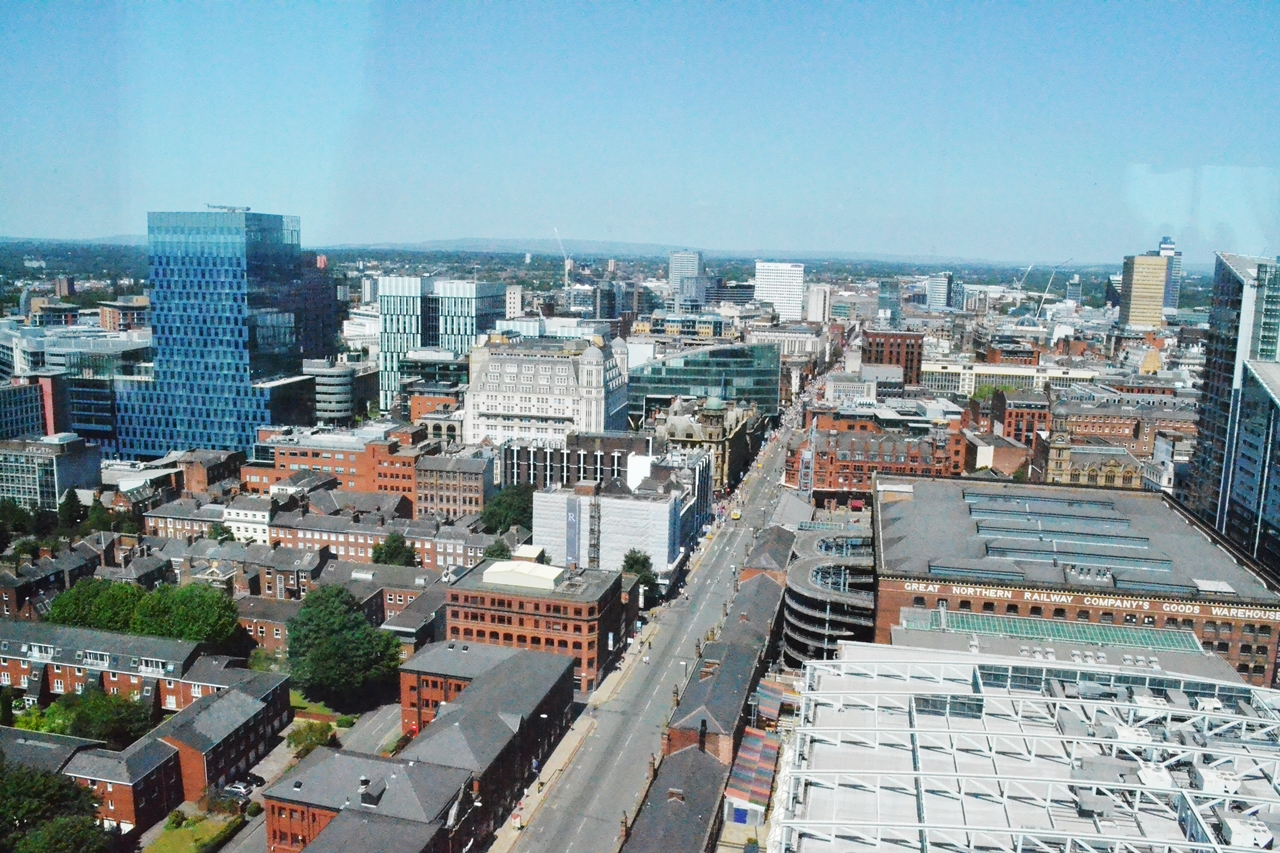 manchester city centre view