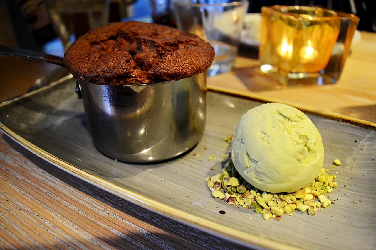 cherry souffle dessert french menu george's worsley